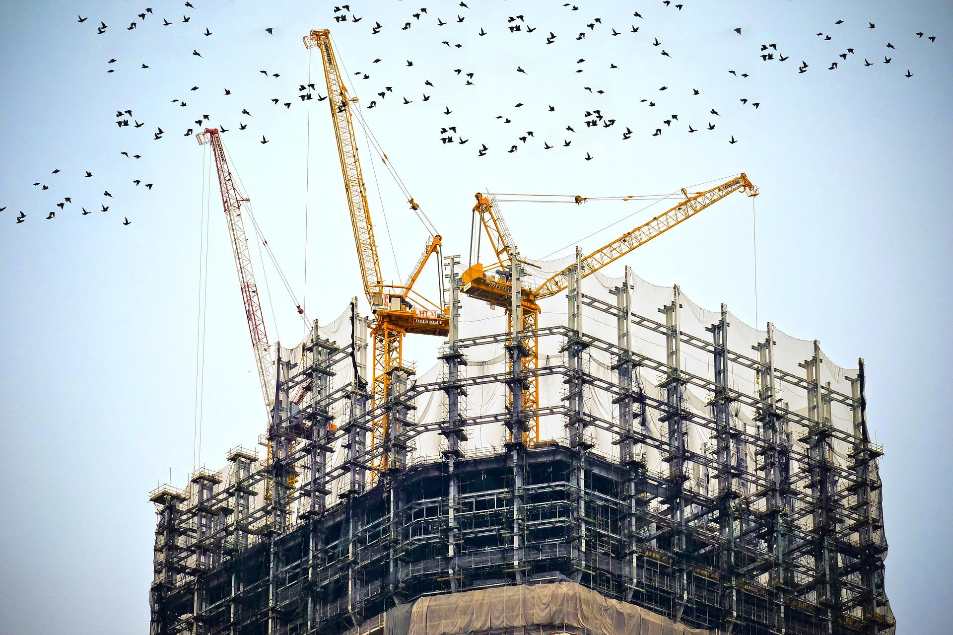Immagine decorativa palazzo in costruzione
