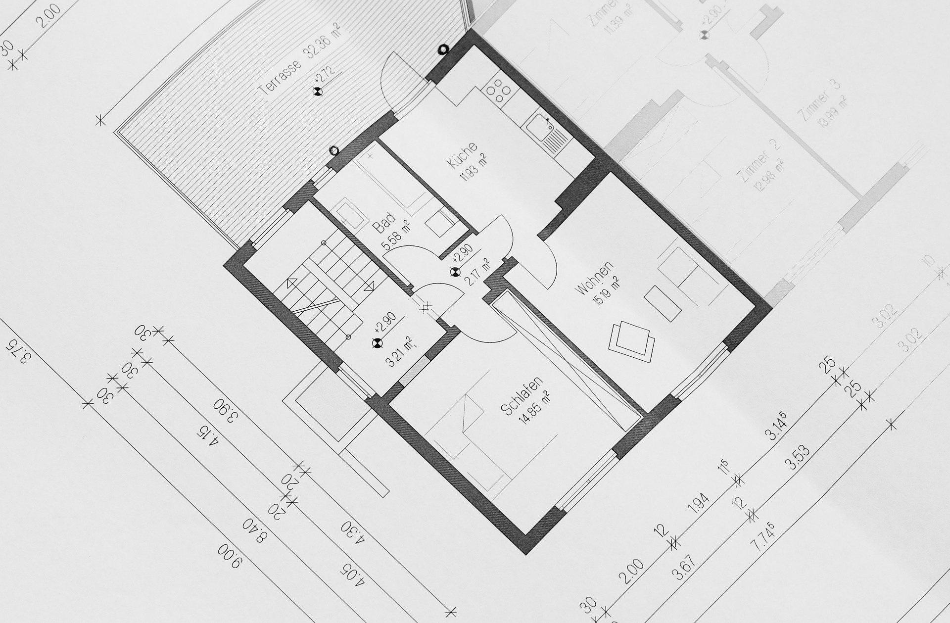 Immagine decorativa sismica (planimetria appartamento)
