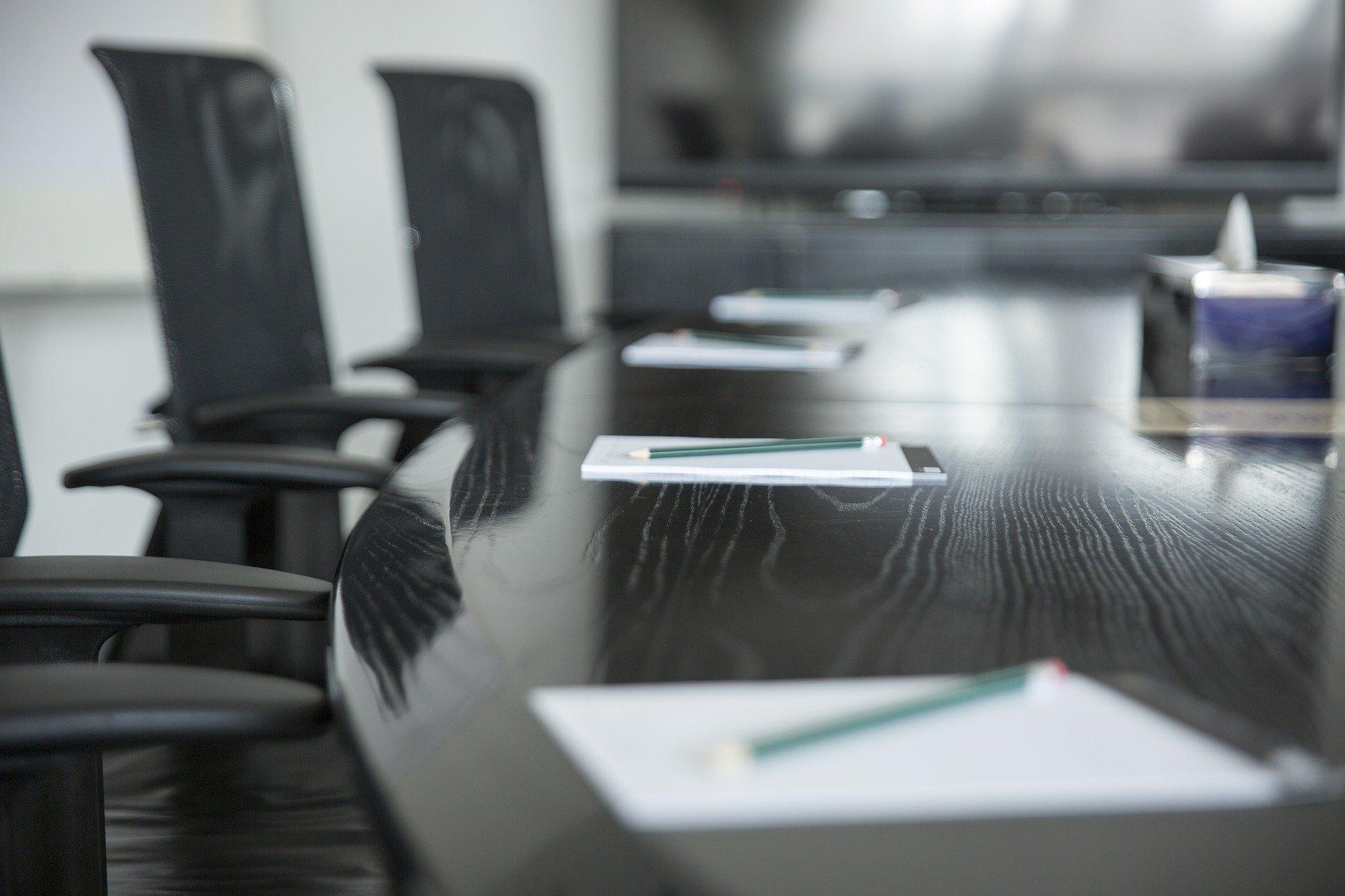 Immagine decorativa sala riunioni