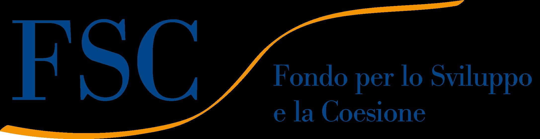 """Logo FSC - """"Intervento finanziato con risorse FSC 2014-2020 - Patto per lo Sviluppo della Città di Genova"""""""