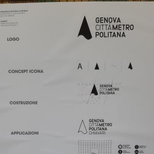 Cartellonistica Città Metropolitana di Genova convegno Open Data 60