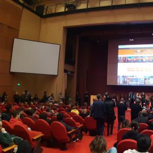 La cerimonia di apertura alla Sala Maestrale 1