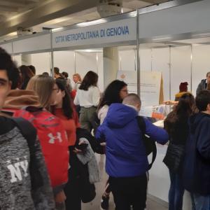 Lo stand di Città Metropolitana di Genova 2