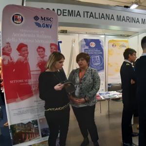 Lo stand di Fondazione Accademia Italiana Marina Mercantile
