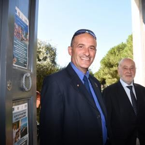 Il consigliere delegato di CMGE Claudio Garbarino ed il Presidente dell'Accademia Eugenio Massolo