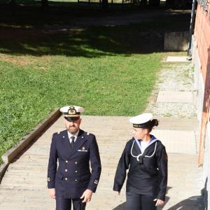 Arrivo delle autorità della Marina