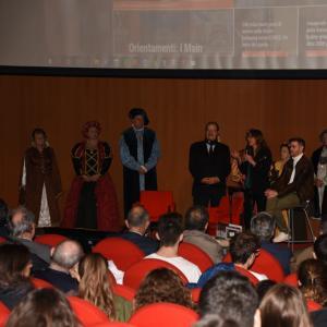 La cerimonia di apertura alla Sala Maestrale 4