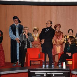 La cerimonia di apertura alla Sala Maestrale 5