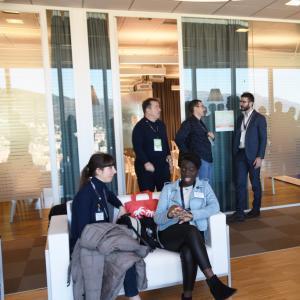 Prima giornata, sede di Liguria Digitale, alcuni partecipanti