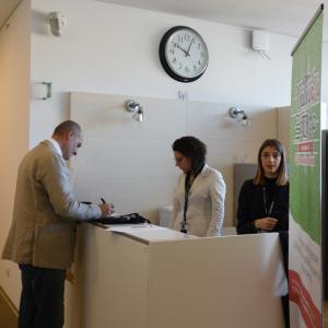 Prima giornata, sede di Liguria Digitale, il consigliere delegato di CMGE Claudio Grabarino