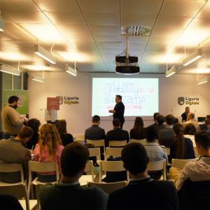 Prima giornata, sede di Liguria Digitale, presentazione progetto 1