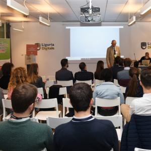 Prima giornata, sede di Liguria Digitale, presentazione progetto 5
