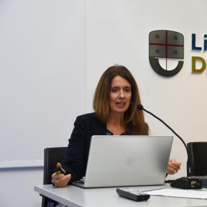 Prima giornata, sede di Liguria Digitale, presentazione progetto  dell'architetto Lonati 2