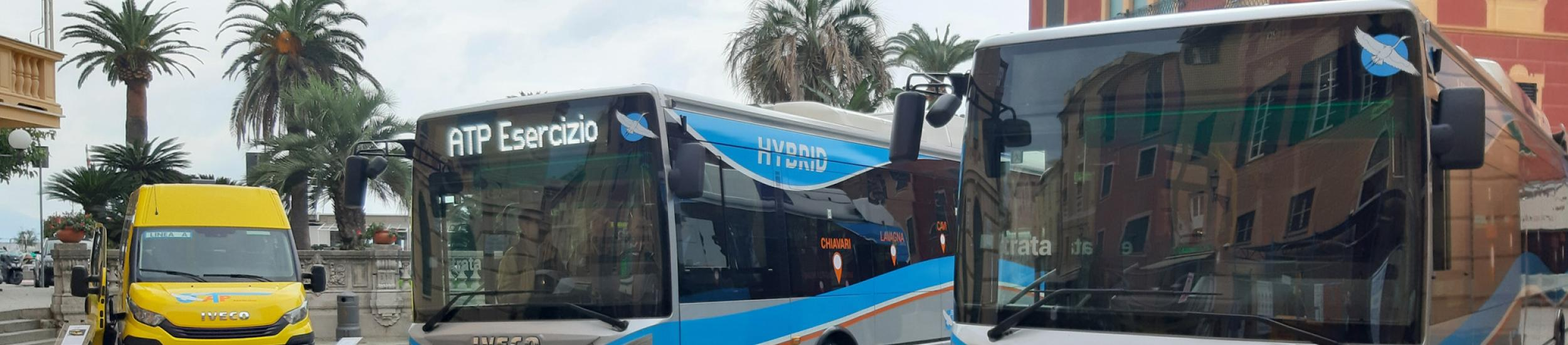 I nuovi bus ibridi e lo scuolabus ATP