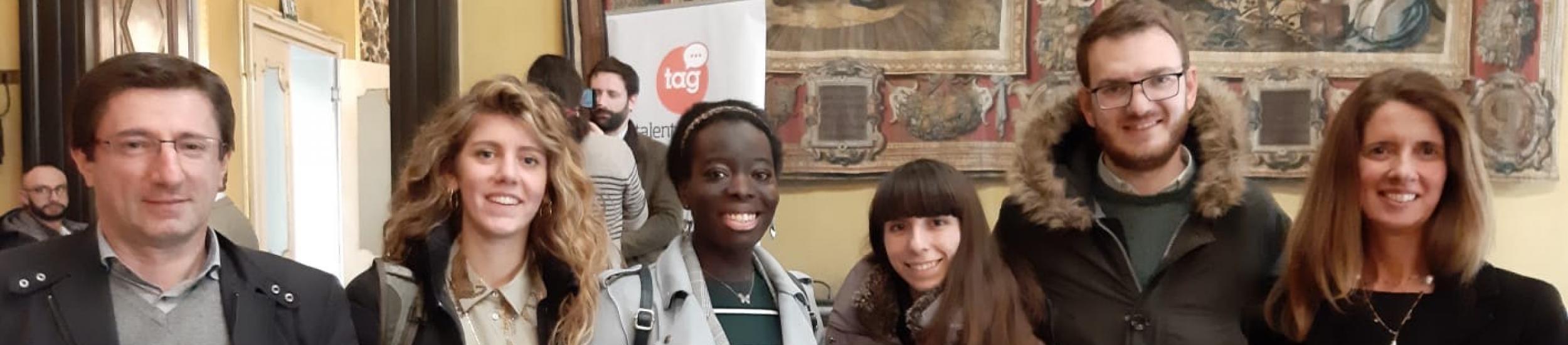 Il gruppo Bizena, vincitore del Mobility Bootcamp