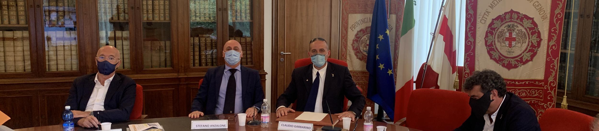 Alcuni Consiglieri presenti in nella sede di piazzale Mazzini