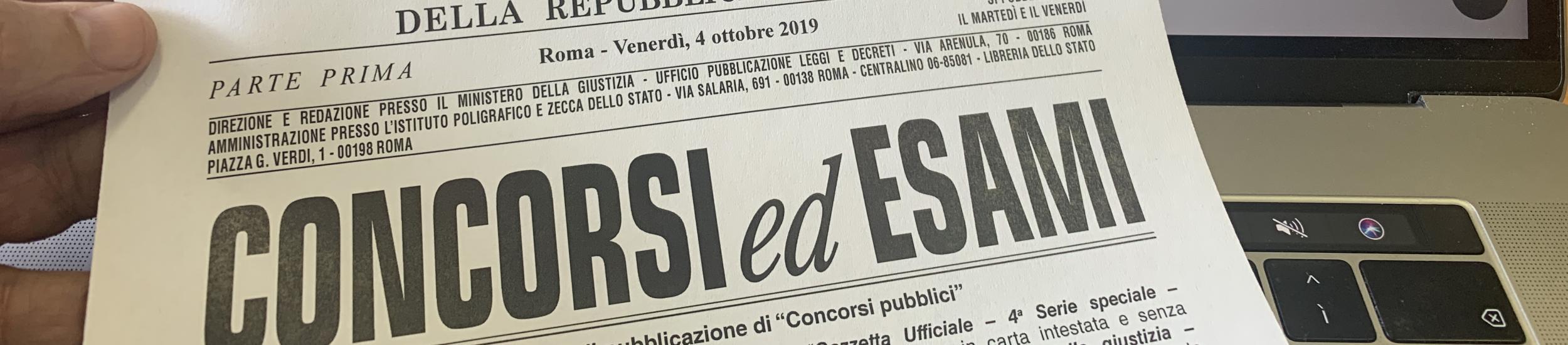Concorsi pubblicati sulla Gazzetta Ufficiale
