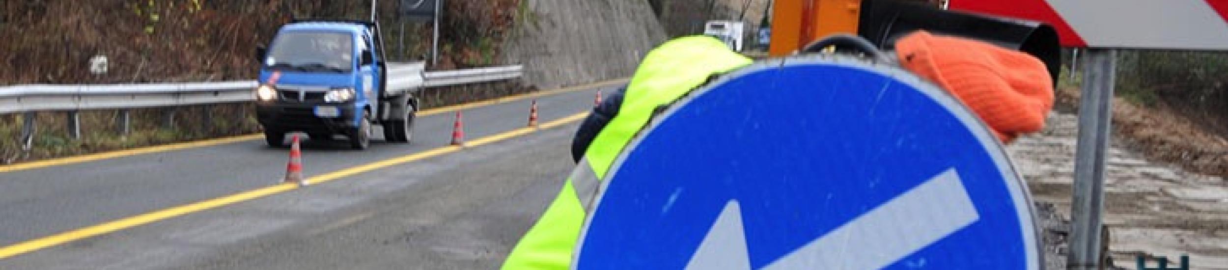 News: Mezzanego, senso unico alternato al km 62 della sp 586 della val d'aveto