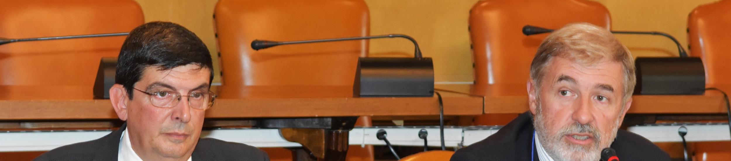 Il Consigliere delegato Adolfo Olcese ed il Sindaco Metropolitano Marco Bucci
