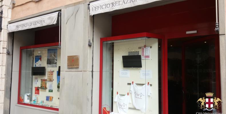Genova nel cuore, Le magliette in vendita allo Sportello URP in salita S. Caterina a Genova