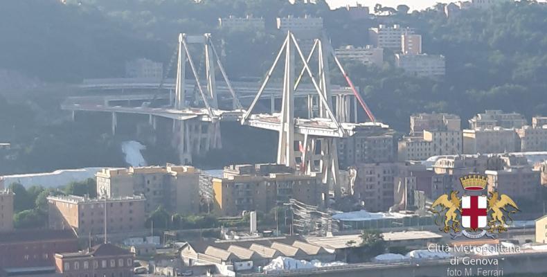 Vista del Ponte Morandi