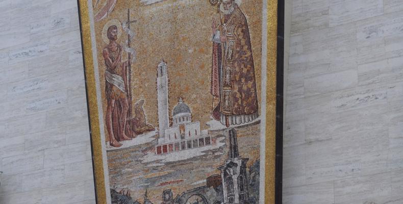 Recco, chiesa S. Giovanni Bono, mosaico