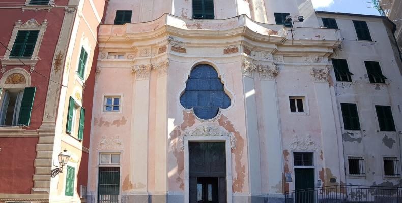 Sori, Chiesa di S. Margherita di Sori, facciata