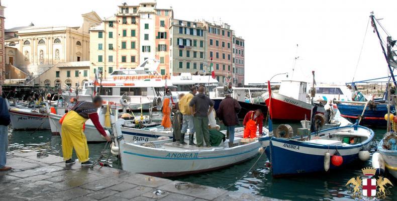 Camogli, pescatori