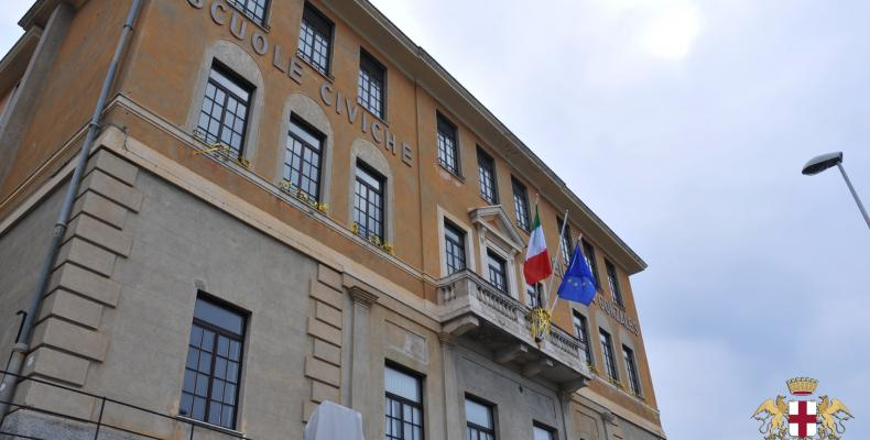 Pieve Ligure: facciata scuole civiche Eugenia Gonzales