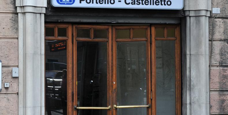 Genova, ingresso ascensore Portello Castelletto