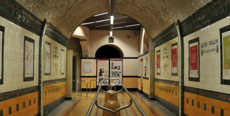Genova ascensore Portello Castelletto, corridoio