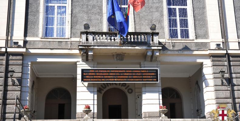 Busalla, ingresso del Comune