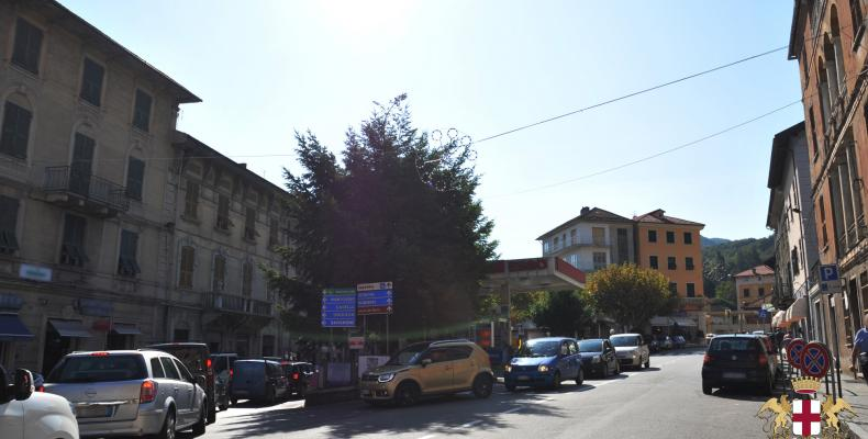 Busalla, via Roma, vista