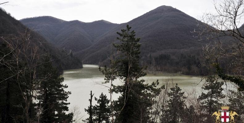 Diga lago del Valnoci, vista