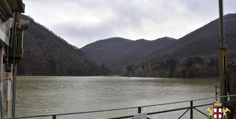 Diga lago Del Valnoci, veduta