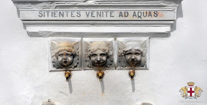Tre Fontane, particolare fontana