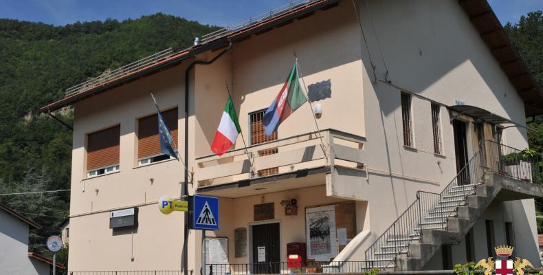 Gorreto, sede del municipio ed ufficio postale
