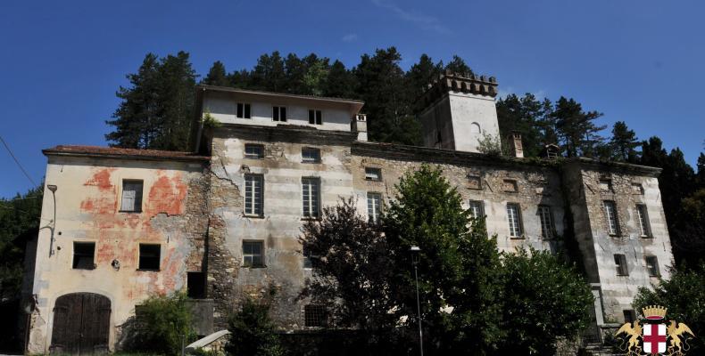 Gorreto, ingresso palazzo Centurione - Tornelli