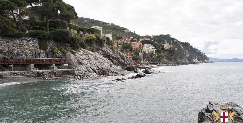 Zoagli, passeggiata a mare, vista