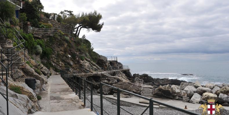 Zoagli, passeggiata a mare lato levante, vista