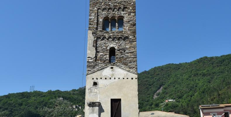 Cicagna, campanile santuario NS dei miracoli