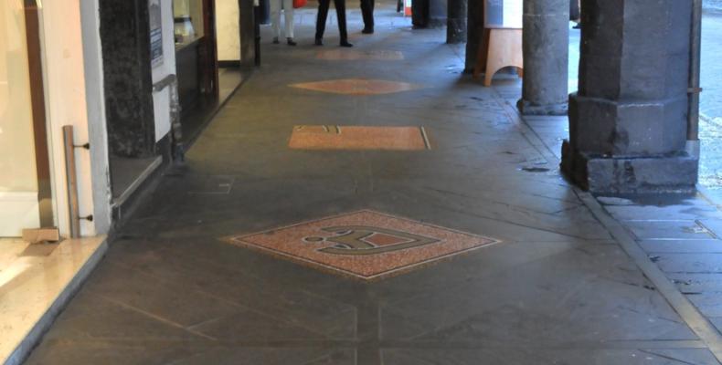 Chiavari, Mosaici portici di Via della Liberazione