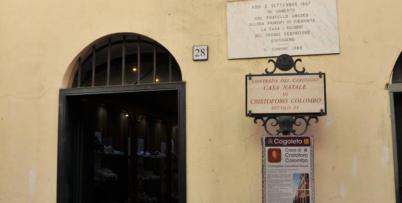 Cogoleto, ingresso casa di Colombo