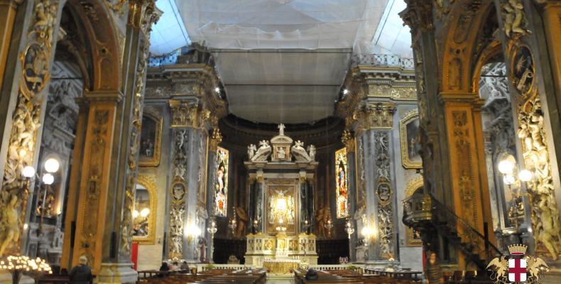 Chiavari, Interno Cattedrale di Nostra Signora dell'Orto