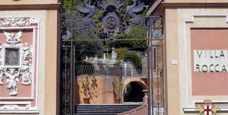 Chiavari, ingresso Parco Villa Rocca