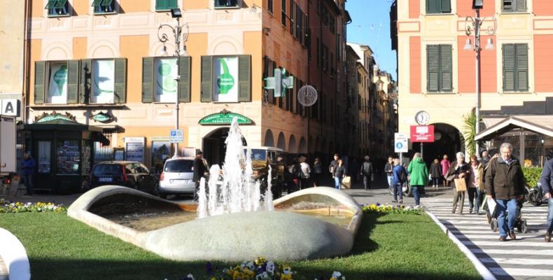 Chiavari, area verde Piazza Matteotti