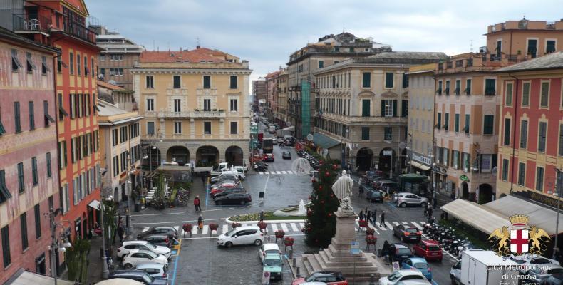 Chiavari, vista Piazza Matteotti