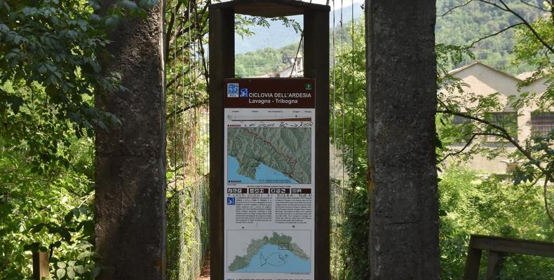 Cicagna, ponte ciclovia dell'ardesia