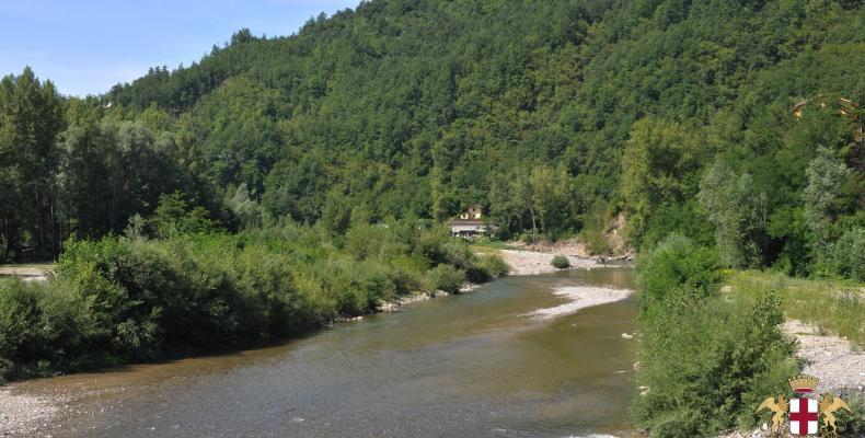 Gorreto, vegetazione fiume Trebbia