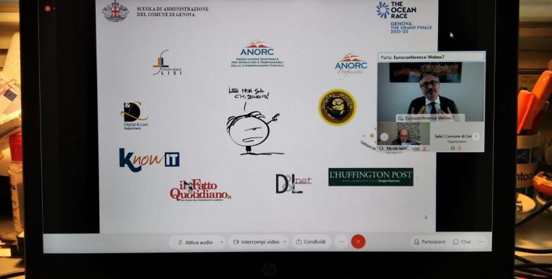 un momento del webinar in videoconferenza